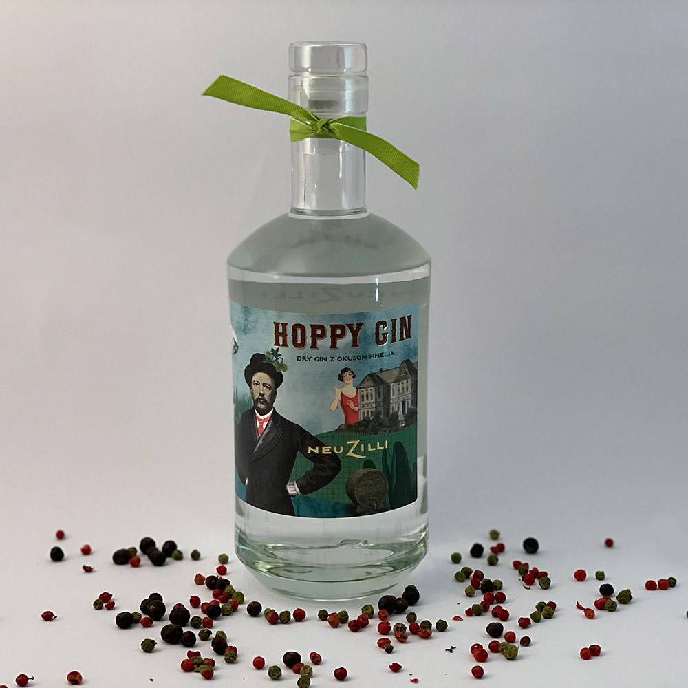 Hoppy Dry Gin steklenica 700 ml v darilni embalaži