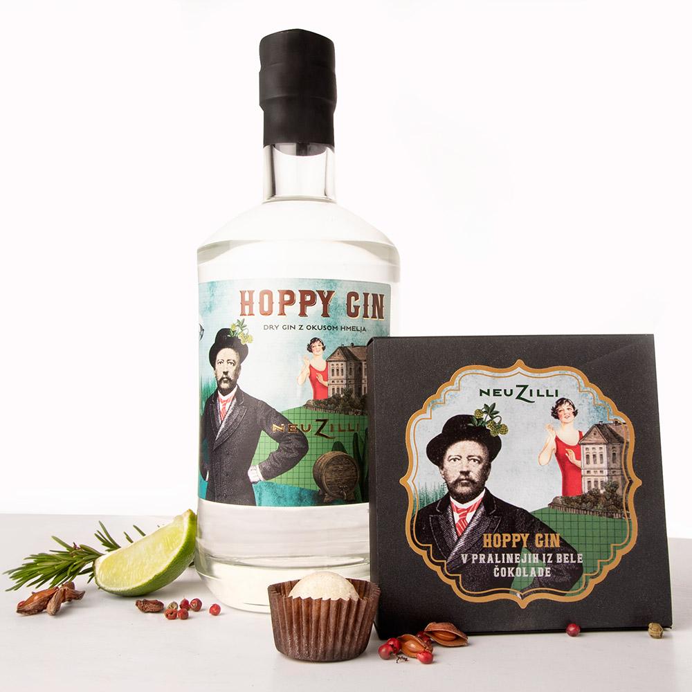 Hoppy Gin V Pralinejih Iz Bele čokolade